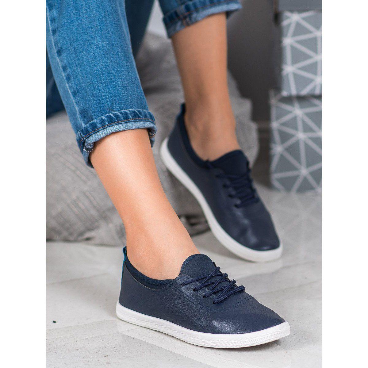 Shelovet Lekkie Trampki Z Eko Skory Niebieskie Dress Shoes Men Dress Shoes Shoes