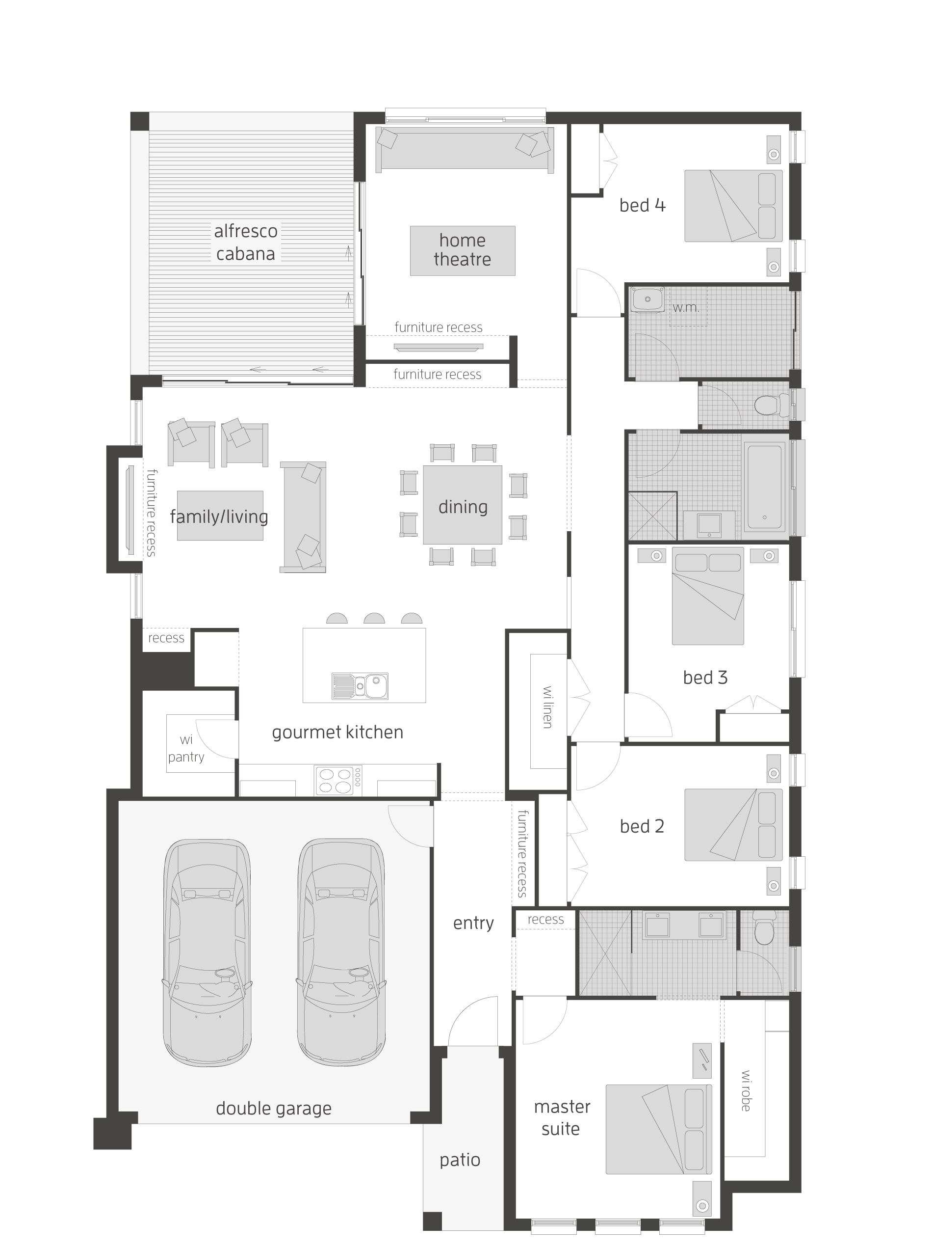 Pin By Aguniaaa On P L A N S Floor Plans New House Plans House Blueprints