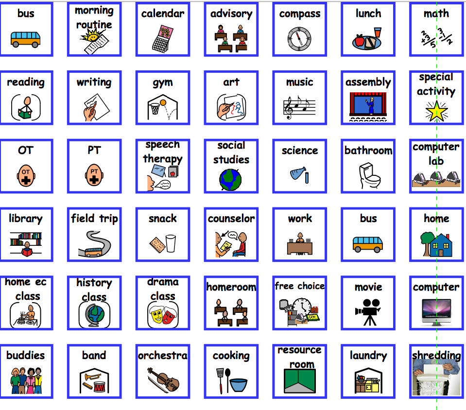 Podd Style Book  Icons    Activities
