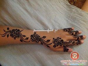 نقوش حناء اماراتي اخر موضة 2014 لعروس وام العروس مجلة توب ماكس Henna Hand Henna Henna Designs