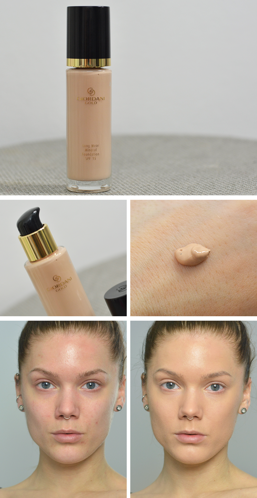 giordanigold long wear mineral foundation spf 15 light rose