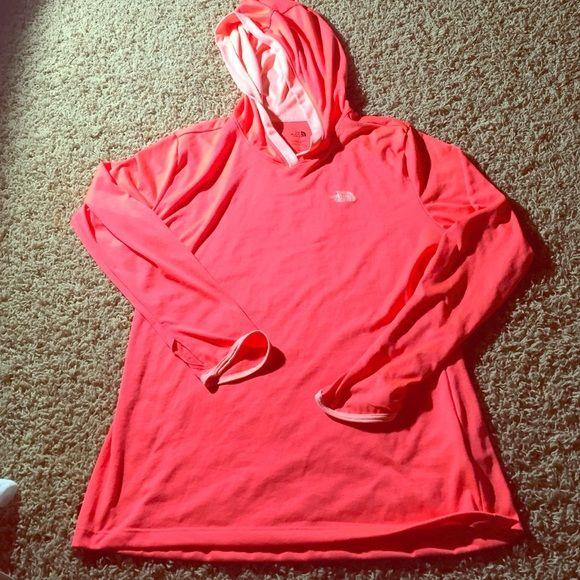 North Face flashdry shirt with hood / never worn! North Face flashdry shirt with hood. Base layer type shirt. Stay warm!  NEVER BEEN WORN North Face Tops Sweatshirts & Hoodies