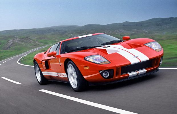 Ford Gt Red And White Stripes Ford Gt Ford Gt 2005 Best Muscle Cars