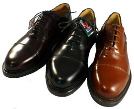 Classic cap toe for men made in Italy by Antica Cuoieria