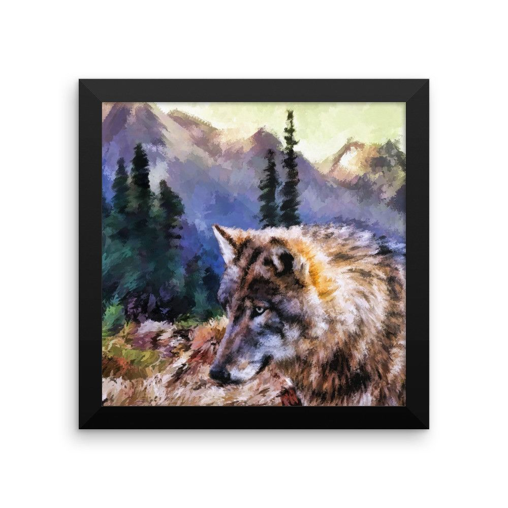 Premium Wolf Framed Photo Print | Premium Wolf Framed Prints | Pinterest