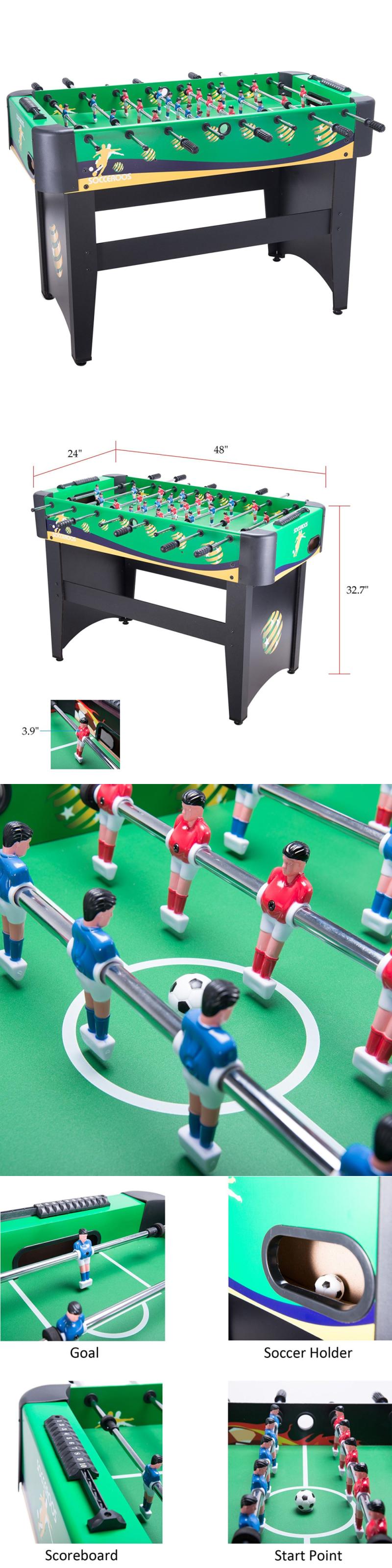 Foosball 36276: Pinty 48 Foosball Table Soccer Football Table 48 X 32 X 24  Mdf