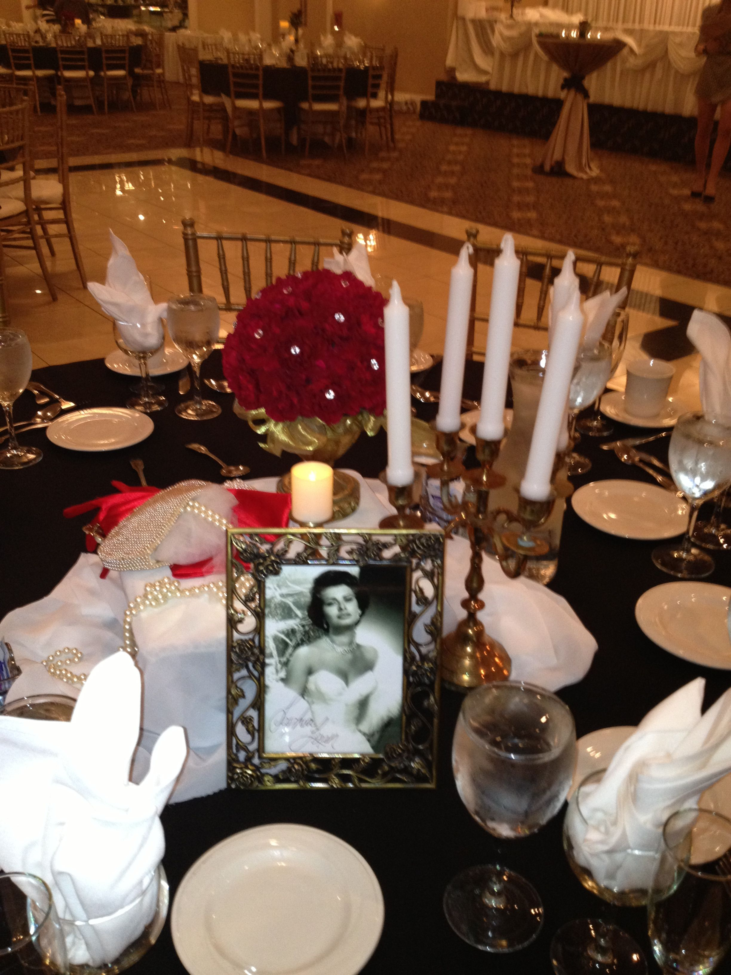 Old Hollywood Theme Natalie And Sal S Bridal Shower Flowers By