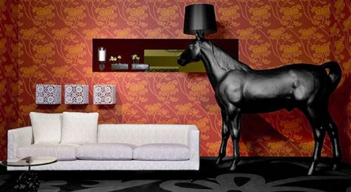 A Life Size Plastic Horse Lamp From Moooi Made In The Netherlands