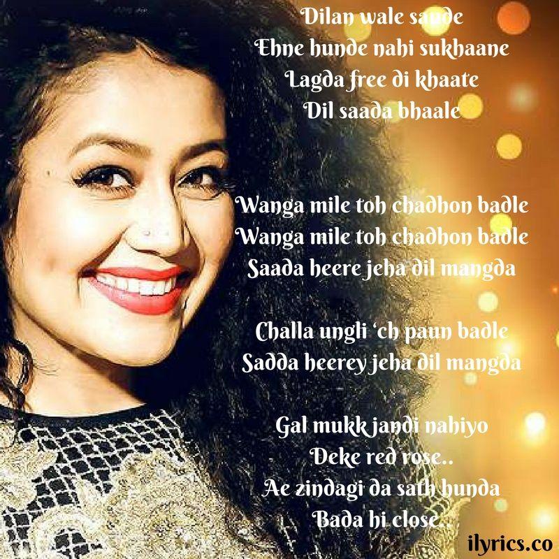 Ring Lyrics By Neha Kakkar Lyrics, Neha kakkar, Songs