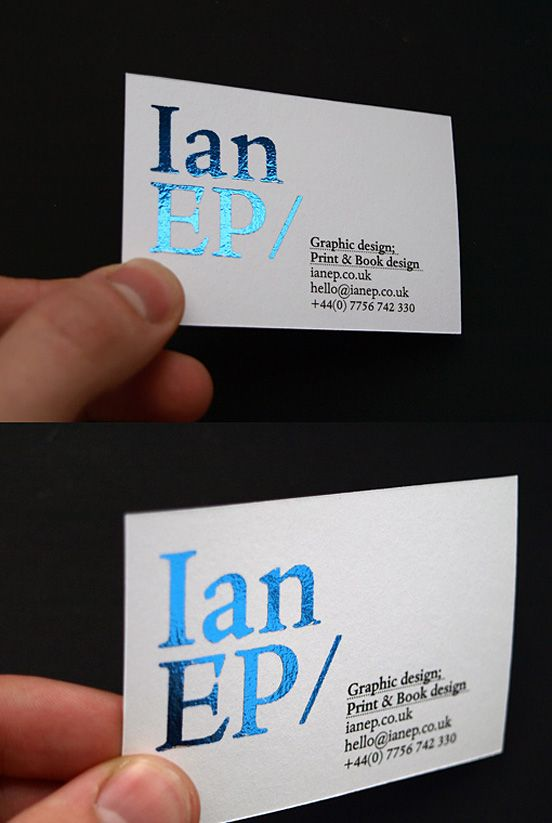 Foiled Metallic Blue Card Fresh Business Cards Foil Business Cards Business Card Inspiration