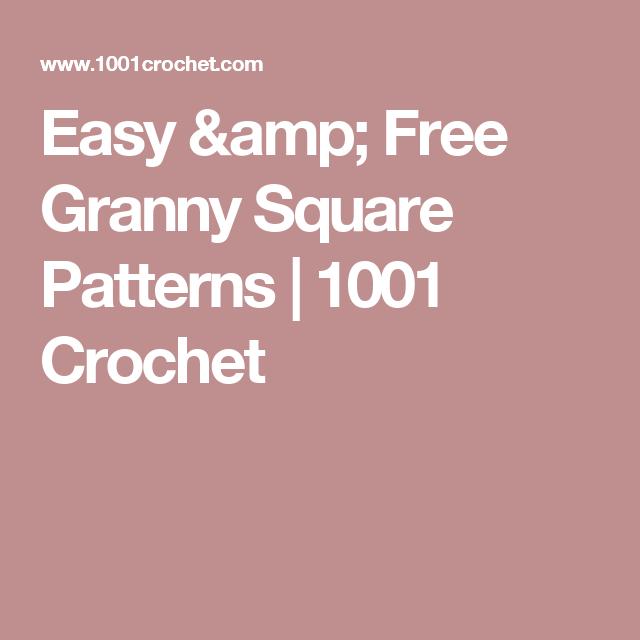 Easy Free Granny Square Patterns Square Patterns Granny Squares