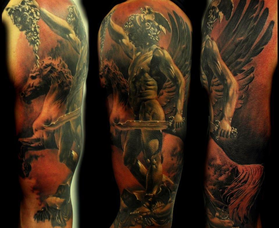 Anioł Z Mieczem Angel Tattoos Tattoos Tatuaże I Anioł