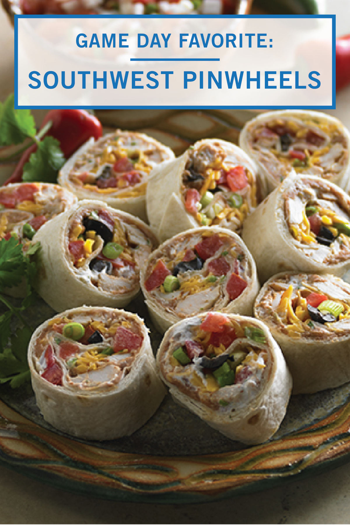 Southwest Pinwheels Recipe Appetizer Recipes Food Appetizers