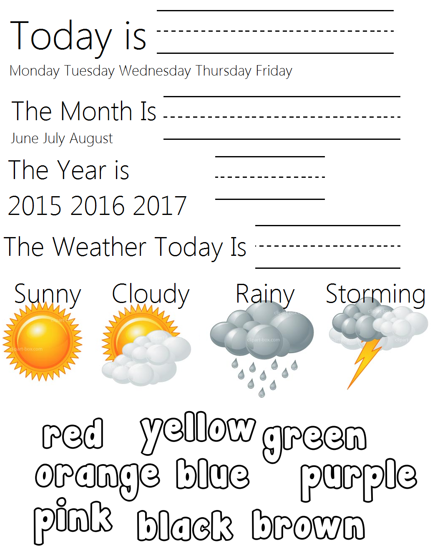 Kindergarten Daily Summer Worksheet When In Doubt Use