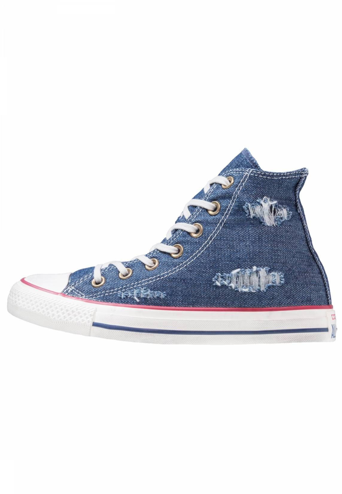 Converse. CHUCK TAYLOR ALL STAR - Sneakers alte - blue/garnet ...