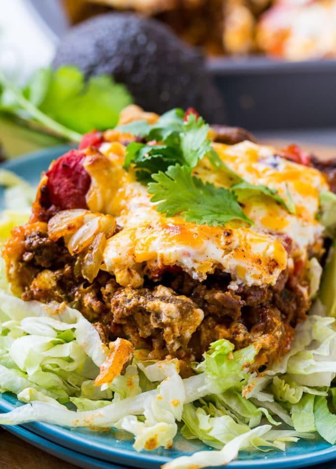 Deep Dish Taco Casserole Recipe Beef Casserole Delicious Family Meals Deep Dish