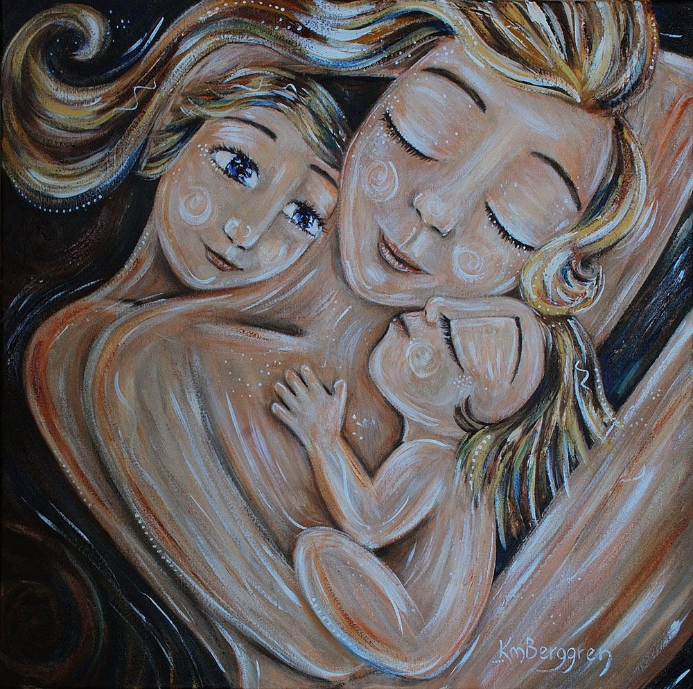 war and peace painting woman and child | Joy & Peace | | Katie m. Berggren | mother child paintings | things ...