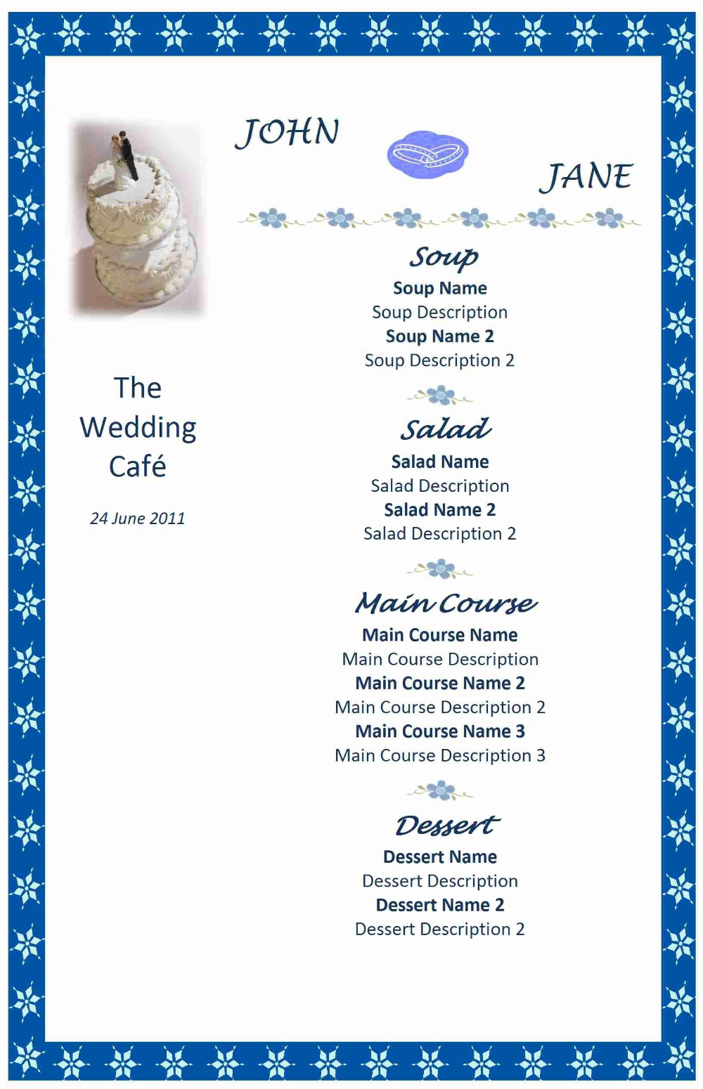 Wedding Menu Templates Free Microsoft Word Click Here For A Free Regarding Free Wedding Menu Template For Word - 10+ Professional Templates Ideas | 10+ Professional Templates Ideas #weddingmenutemplate
