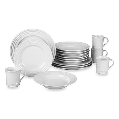 **BEST PRICE ANYWHERE-PICK UP OR GET FREE SHIPPING ** LE CREUSET 16-Piece Dinnerware Set White  $195 PICK UP OR SHIPS FREE* WEBSITE: agnellinos.com