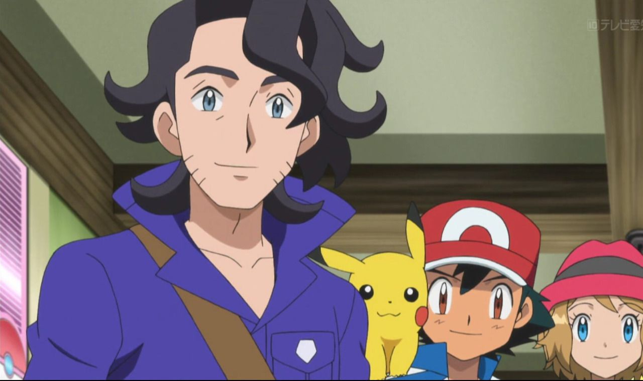 Professor Sycamore, Ash & Serena | Pokemon-Sycamore ️ | AnimeSerena And Professor Sycamore