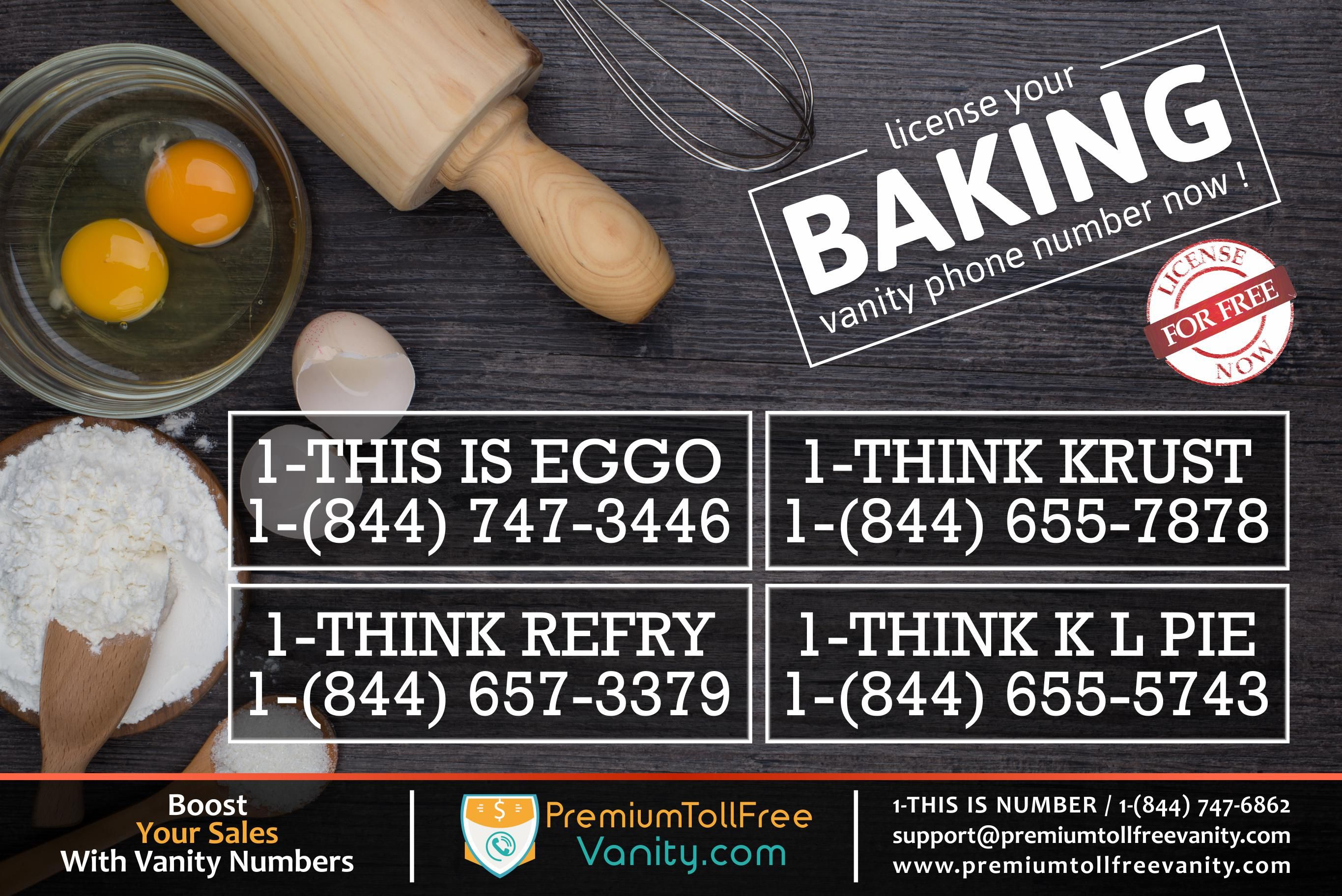 Using A Like IS EGGO, KRUST, For Your Bakery Business Instead Of Your Cell  Number.