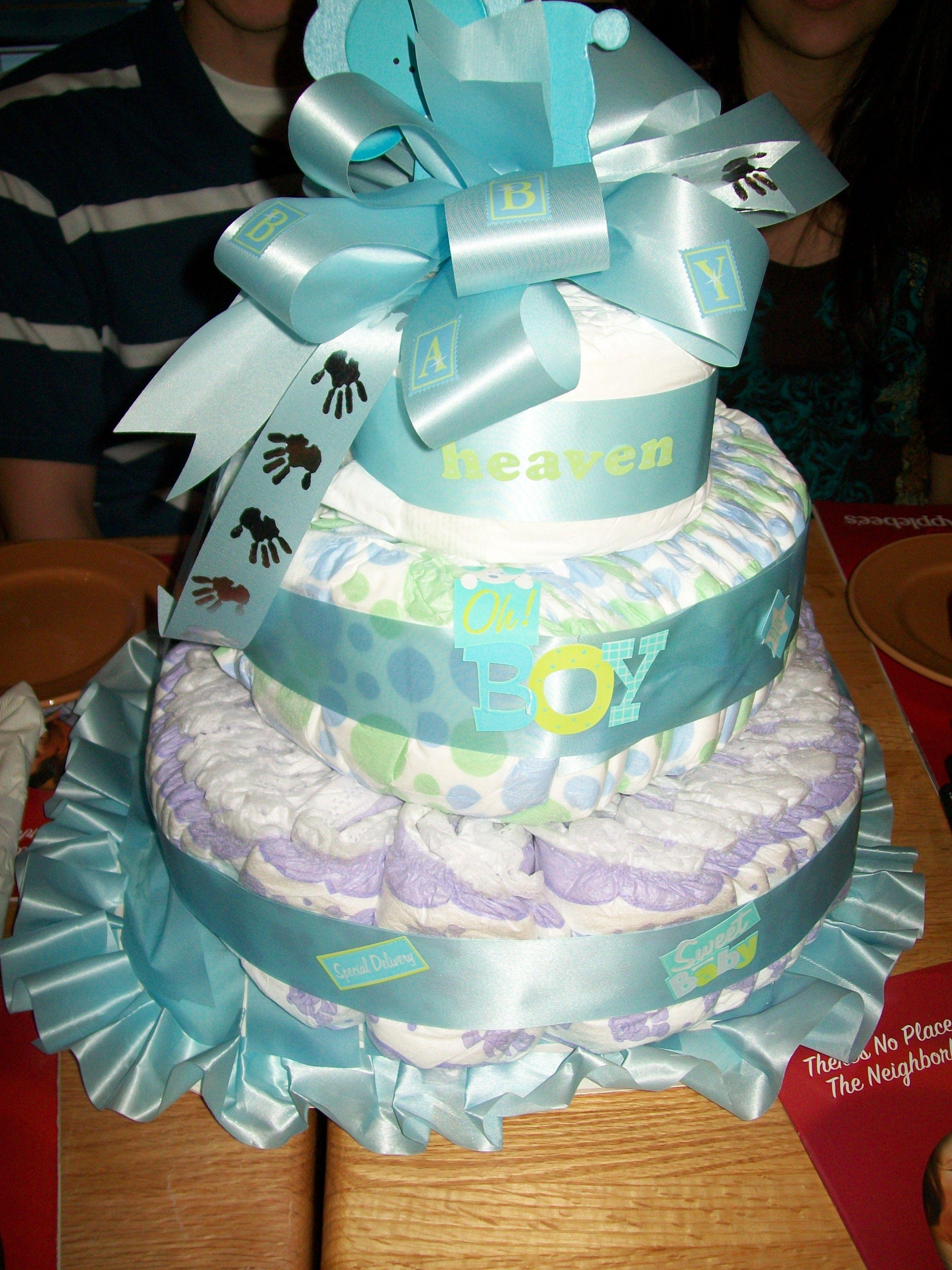 Diaper cake its a boy diaper cake cake my design
