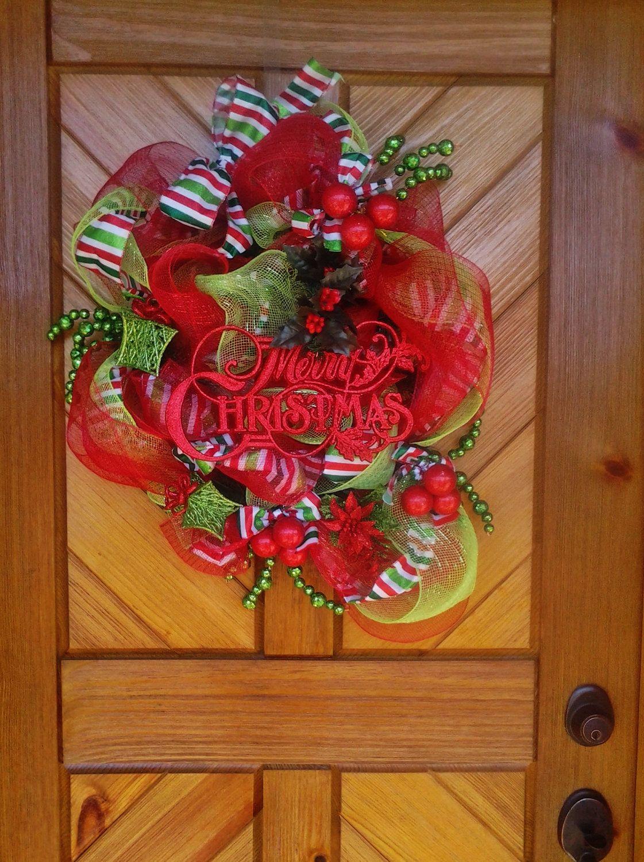 Braided Deco Mesh Christmas Wreath Holiday