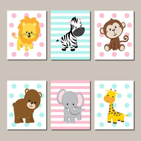 Kinderbilder Für Die Wand jungle animals nursery wall jungle nursery prints or canvas set