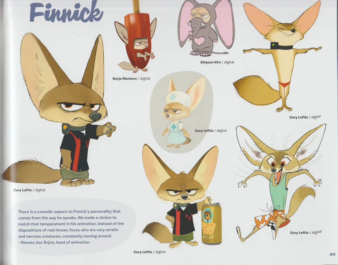Disney Character Design Book : Concept art book parte more pages by zootopiafanart on