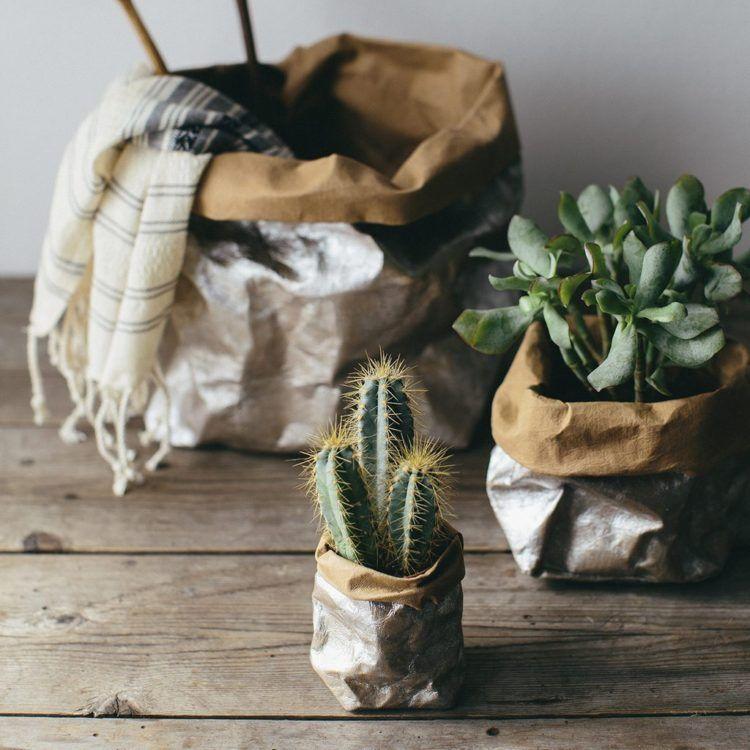 10 Best Plant Pots Metallic Paper Plant Bags Moon Decor