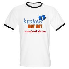 broken but not crushed down