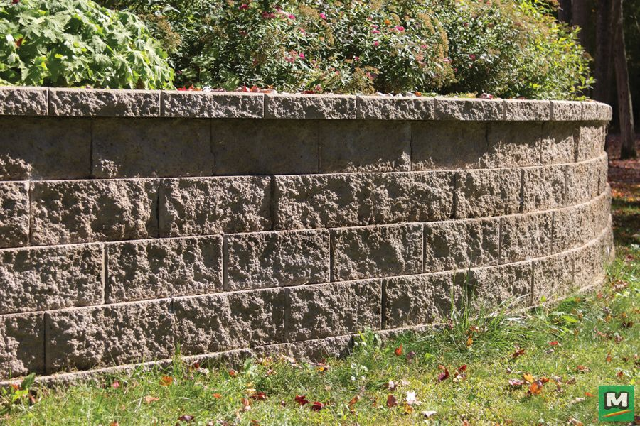 Add Some Architectural Style To Your Landscaping With Denver Straight Retaining Wall Blocks Unifor Landscape Materials Landscape Walls Landscaping Inspiration