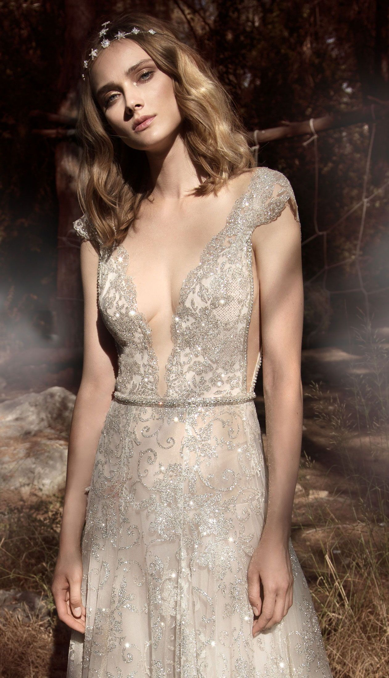 A close look at the beautiful #GALA903 french lace wedding dress ...