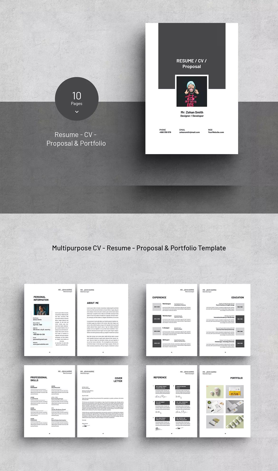 Buy Indesign Resume Template 10 Best Free Resume Cv Templates In Ai Indesign Psd