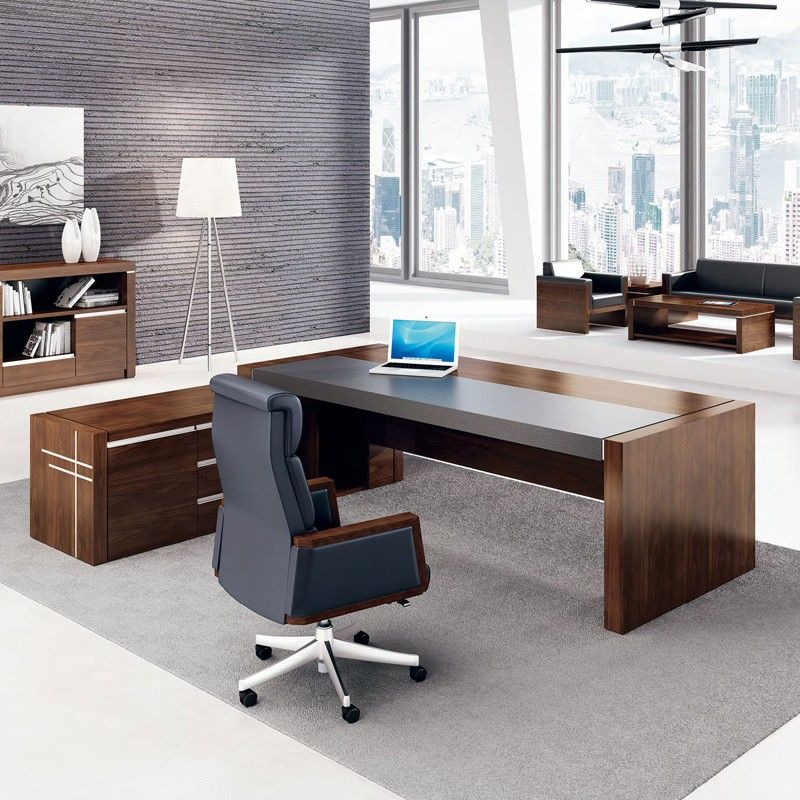 Charmant High Gloss Ceo Office Furniture Luxury Office Table Executive Desk Leather  Top