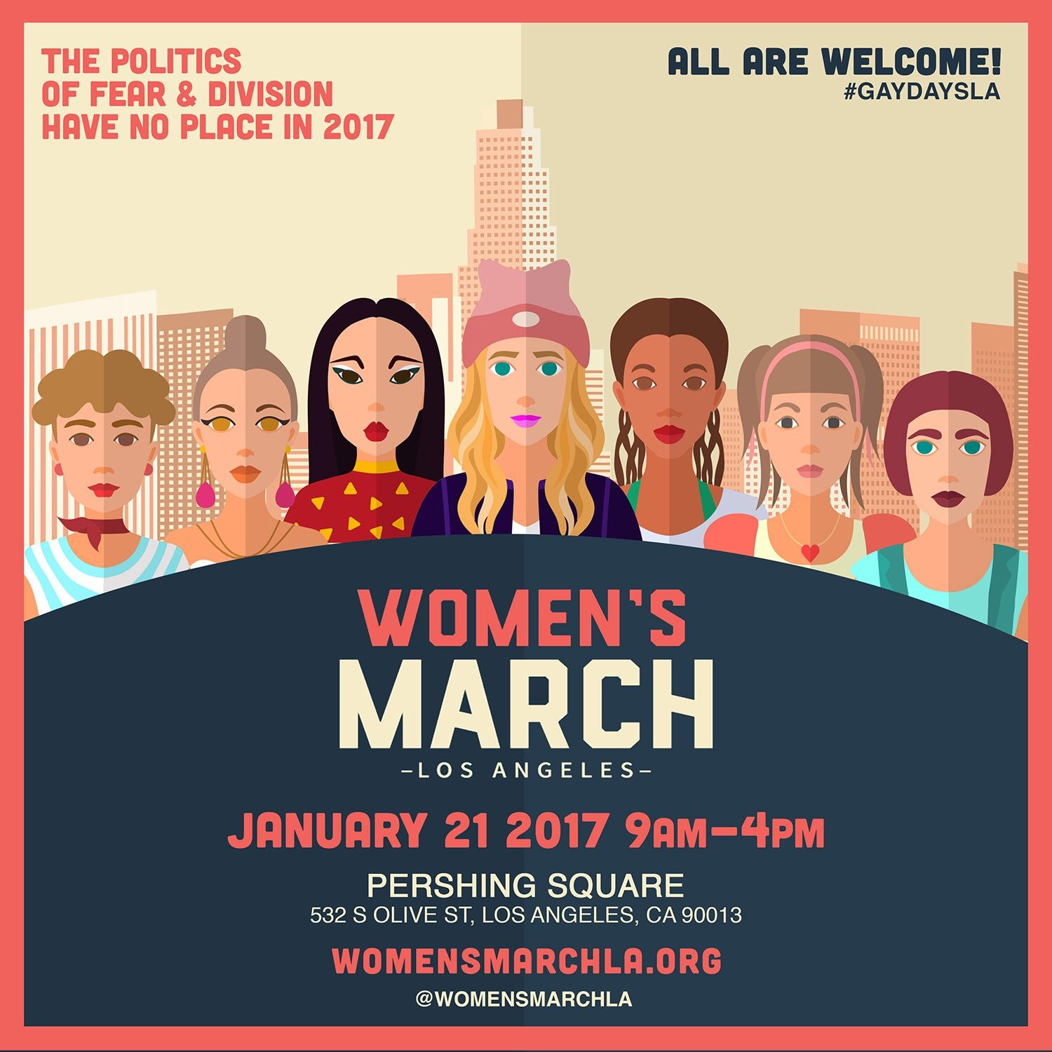 Women's March Los Angeles Ad by JB Design Studio for Gay Days Los Angeles