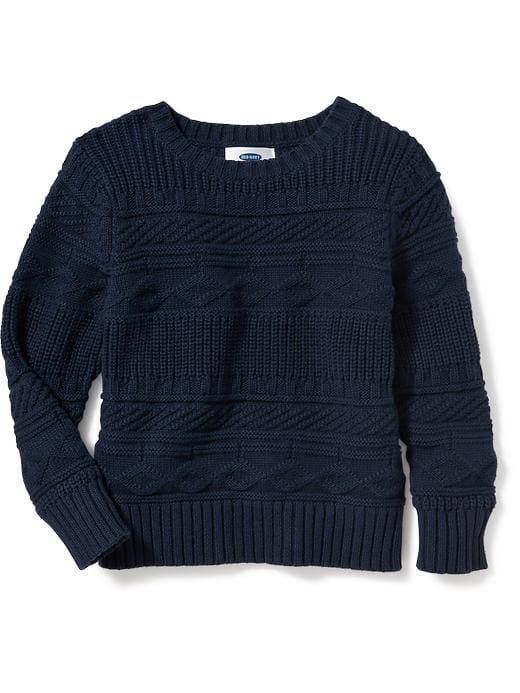 4828214c8 Cable-Knit Crew-Neck Sweater for Toddler Boys $18   Noah ...