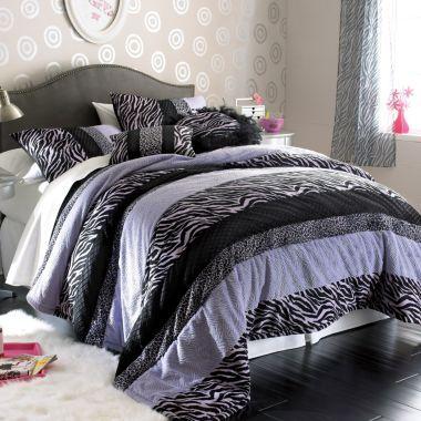 Seventeen zebra darling comforter set and accessories - Jcpenney childrens bedroom furniture ...