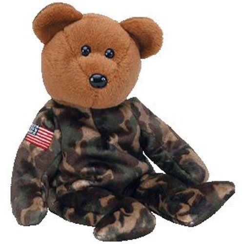 TY Beanie Baby - HERO the USO Military Bear (w  US Flag on Arm) (8.5 inch) d7e131cb3777