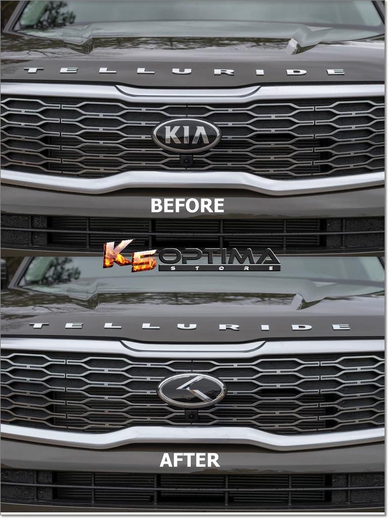 Kia Telluride 3 0 K Logo Emblem Sets Kia Kia Optima Interior Emblem Logo