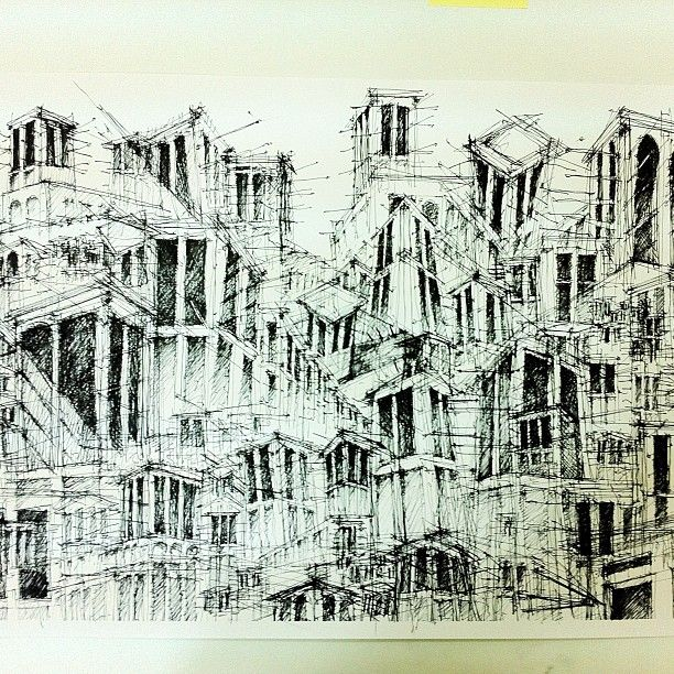 cool architecture drawing. #architecture #drawing Windtowers By @Nasser Alzayani #cool Cool Architecture Drawing
