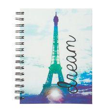 Dream Eiffel Tower Spiral Bound Journal