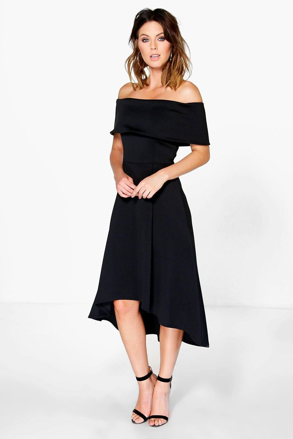 6a4930ba8 Luana Off The Shoulder Dip Hem Skater Dress in 2019 | Stitch Fix ...