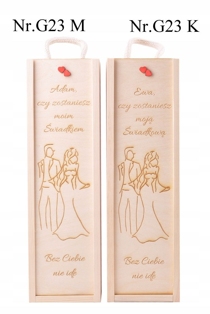Eko Skrzynka Na Wino Grawer Dla Swiadkowej Prezent 7569287821 Oficjalne Archiwum Allegro Wine Gift Boxes Wood Wine Box Decoupage Box