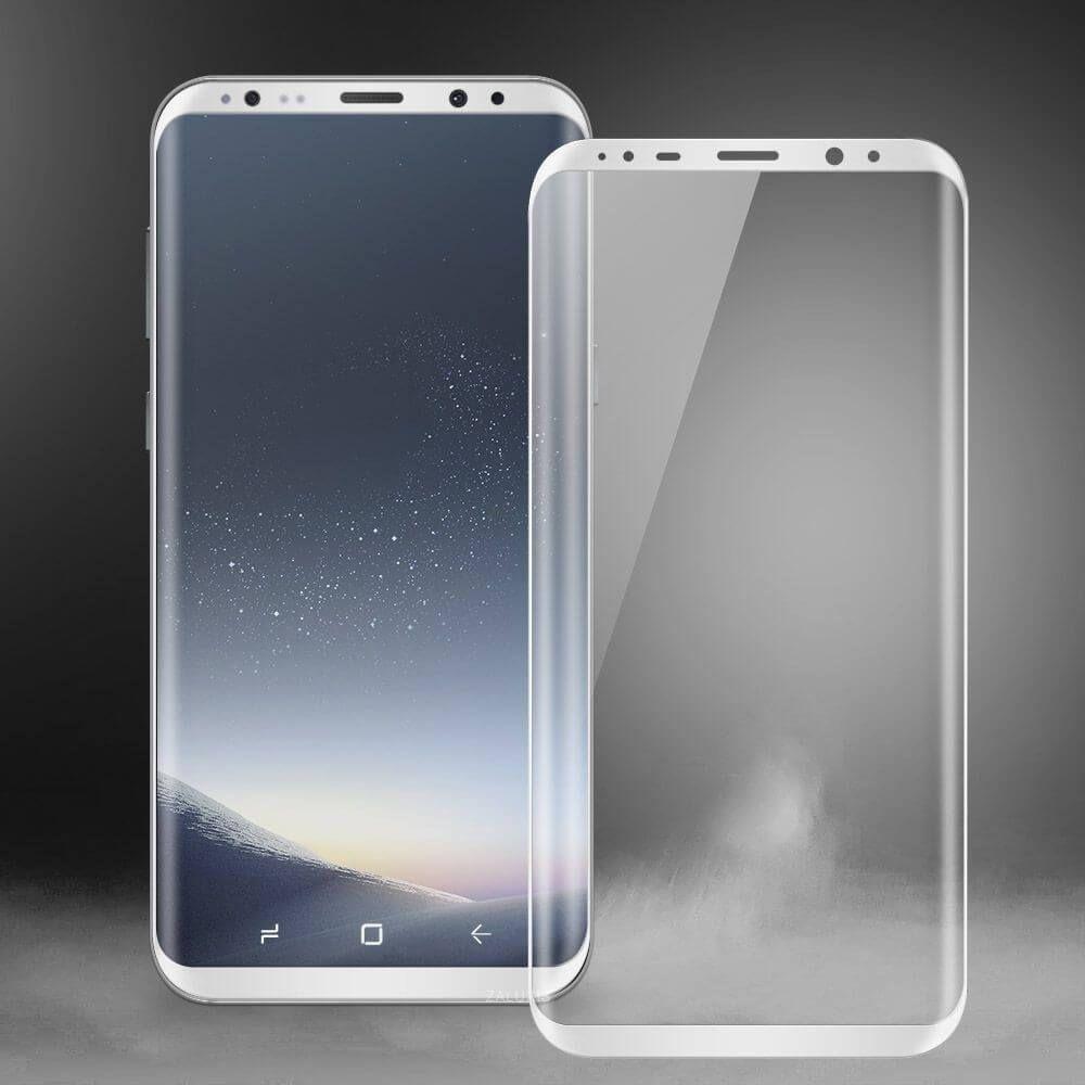 Samsung Galaxy S8 3d Panzerglas Displayschutz Curve Echt Glas Tempered Silber Samsung Galaxy Samsung Galaxy S8