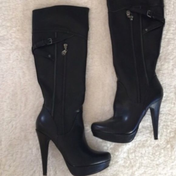 b56c41d30644 CLEAR OUT PRICE by guess platform boots Fantastic condition g by guess  platform boots size 8. Sorry no box G by Guess Shoes