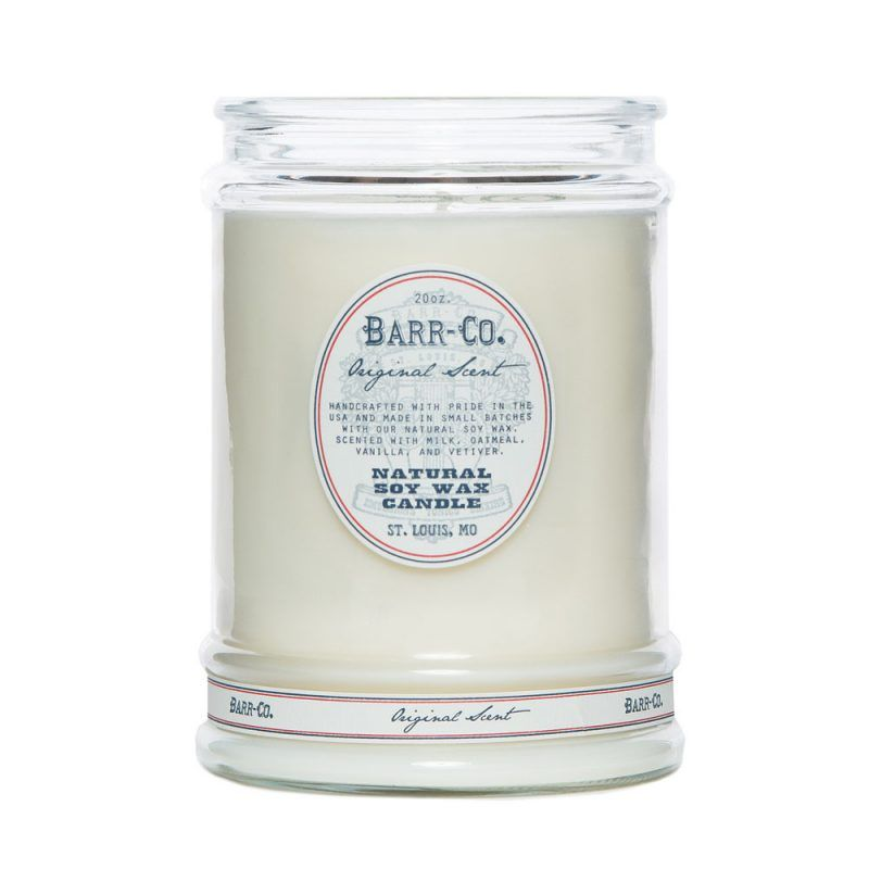 US Apothecary Milk and Oatmeal Natural Wax Candle