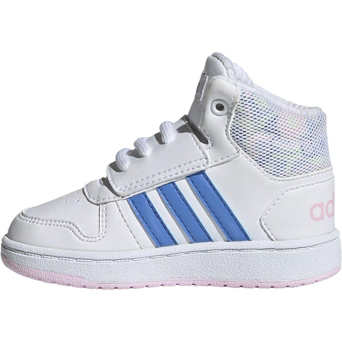 Buty Adidas Hoops Mid 2 0 I Jr Ee8550 Biale Adidas Kids Shoes Sports Shoes Adidas Adidas