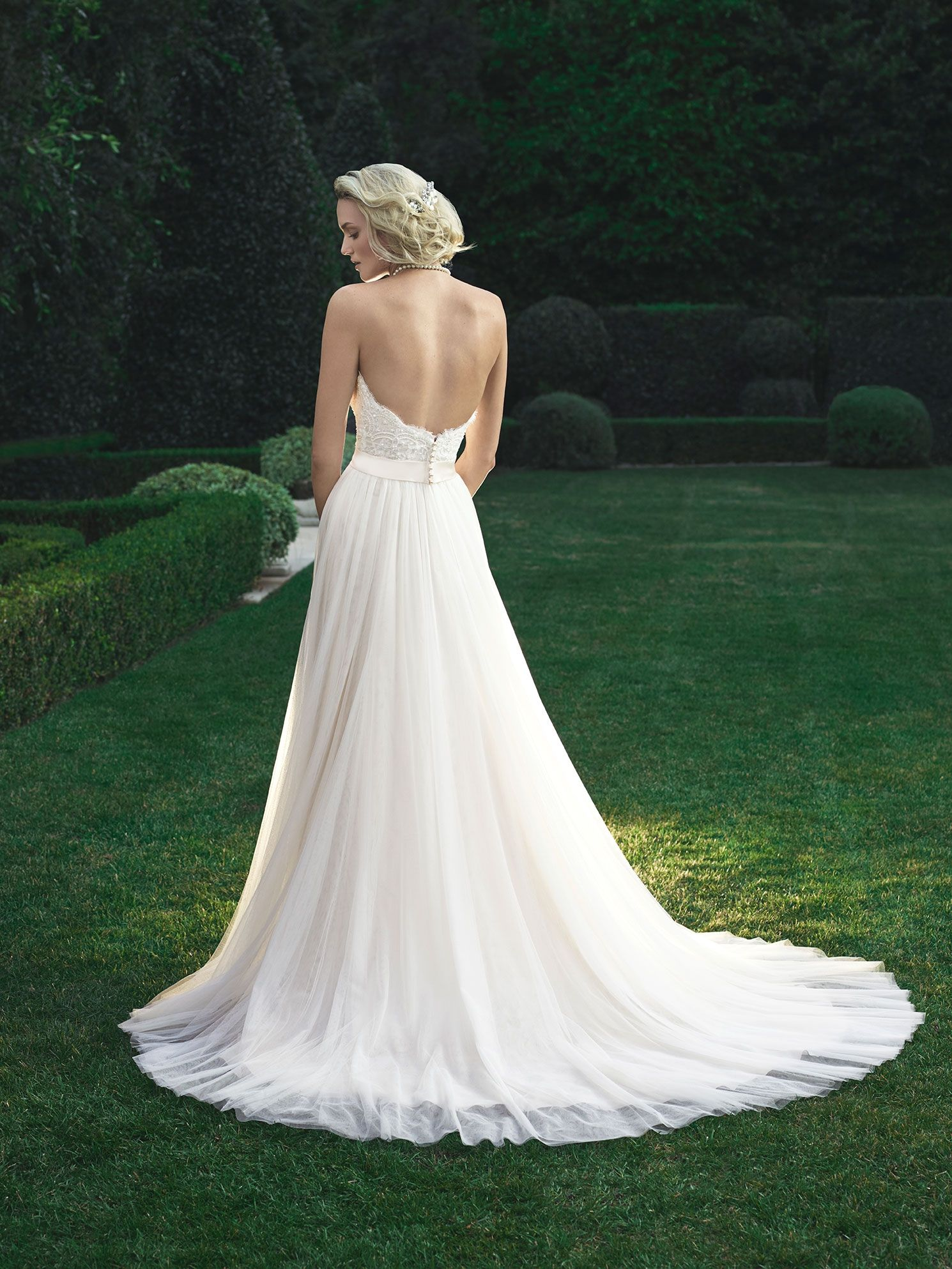 Baby Doll Silhouette Shaped Gown Made Of A Soft Tulle With A