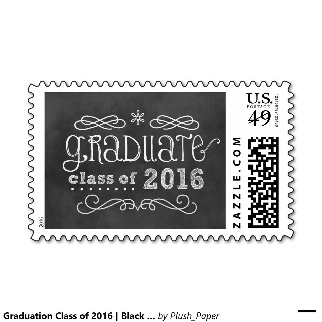 Graduation Class of 2016 | Black Chalkboard Stamps. Artwork designed ...